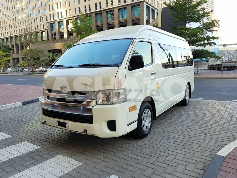 HIGH ROOF HIACE 2015 MODEL GCC SPEC SINGLE OWNER ACCIDENT FREE