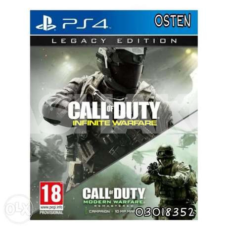 Sony PS4 game call of duty .
