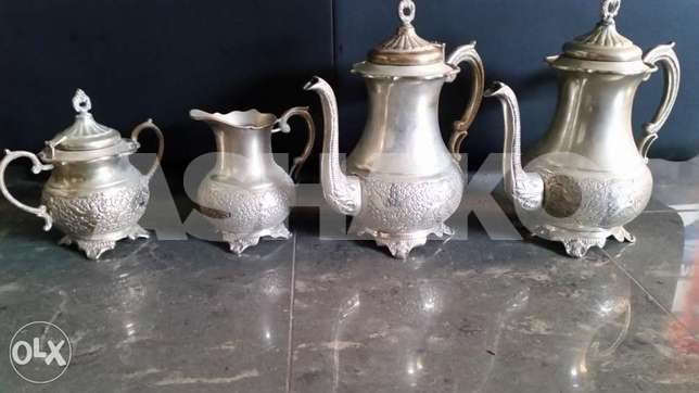 4 Old vases silver plate ( germany)