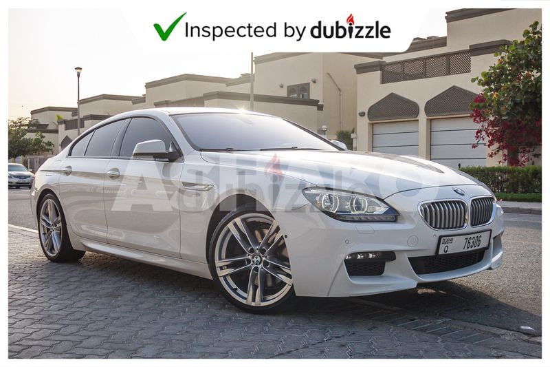 AED 4288/month | 2014 BMW 6-series 650i M kit 4.4L | Full Service History | GCC specification