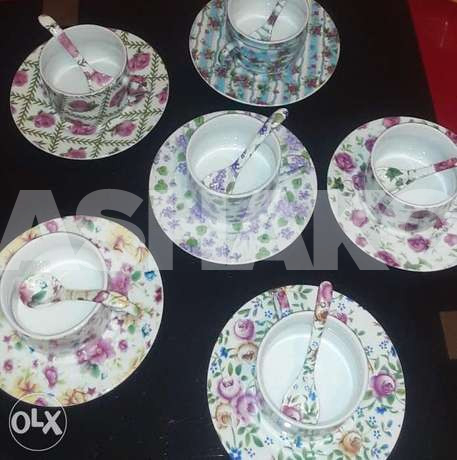 A set of shabby chic french vintage tea cu...