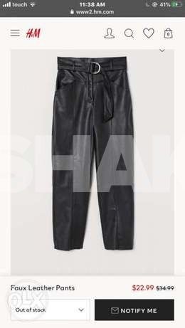 H&M leather pant