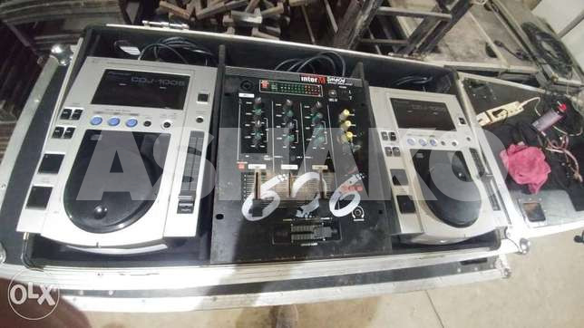 Cdj 1oo with mixer inter M and flight case