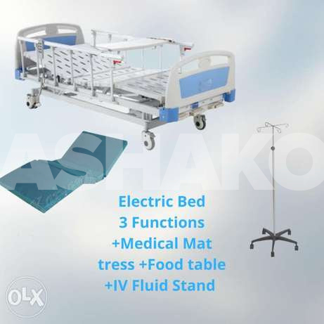 Electric Bed, Medical Mattress, Food Table...