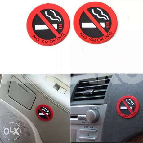 No Smoking Sign Warning 2 piece for 5,000L...