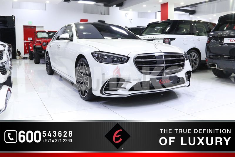 2021!! NEW MERCEDES S500 4MATIC *LUXURY SEDAN* | GCC | FULL-OPTIONS | WARRANTY AND SERVICE CONTRACT