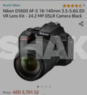 Brand New Nikon D5600 with 18-140 lens