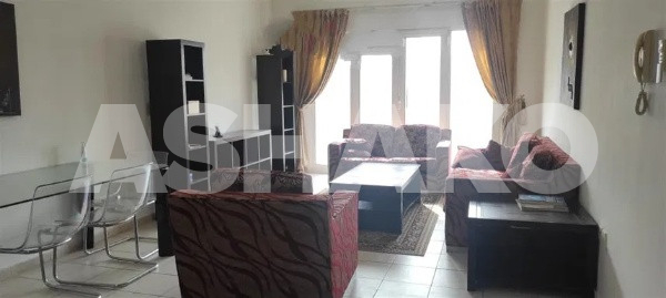 Front Metro Station Fully Furnished 1 BED HALL rent in med cluster Discovery Gardens. Cal now