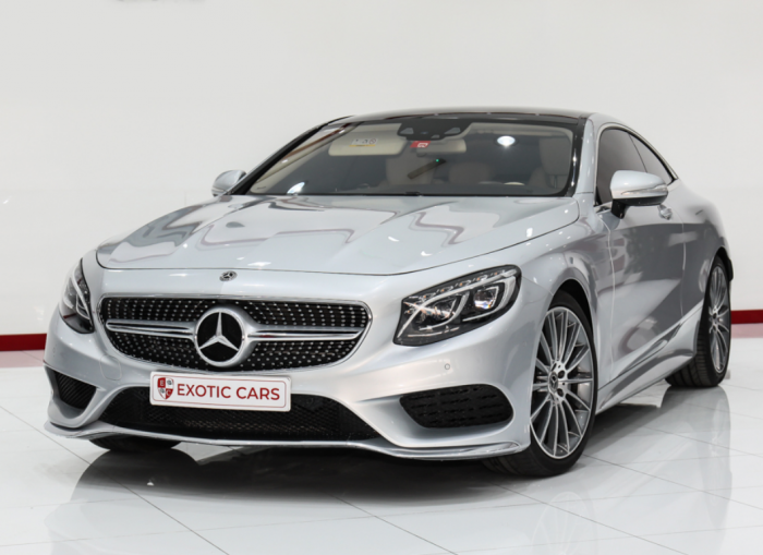 Mercedes-Benz S500 Coupe 2018 Silver-Ivory 33,000 KM || WARRANTY AVAILABLE ||