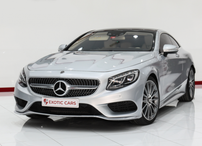 Mercedes-Benz S500 Coupe 2018 || WARRANTY AVAILABLE || Silver-Ivory 33,000 KM